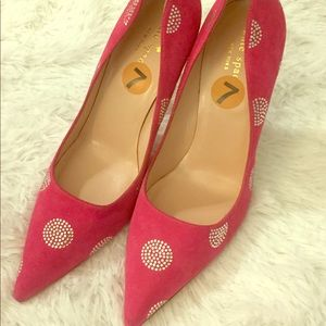 Kate Spade Pink Suede Libby with Crystals